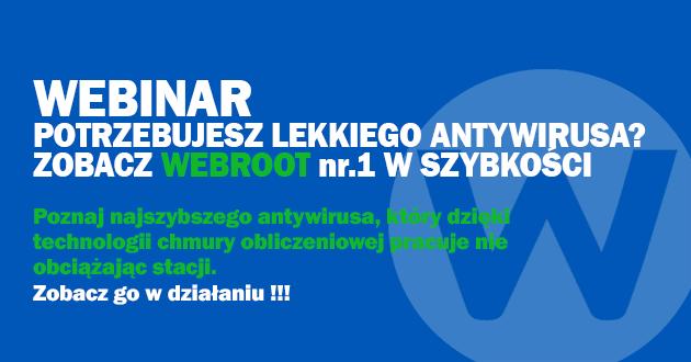Webinarium Webroot SecureAnywhere.